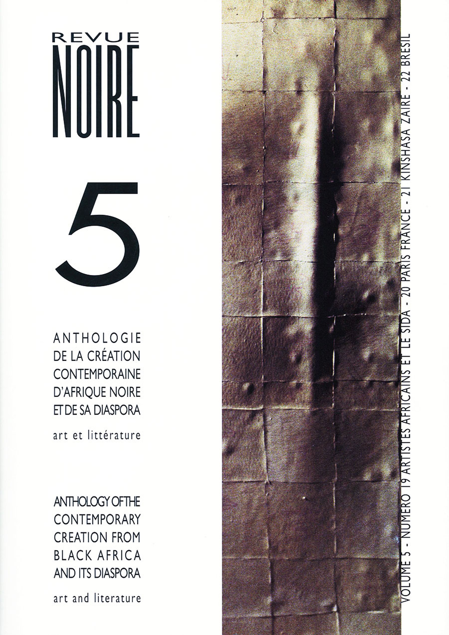 Book 'Anthology Revue Noire Magazine Vol. 05' N° 19 to 22