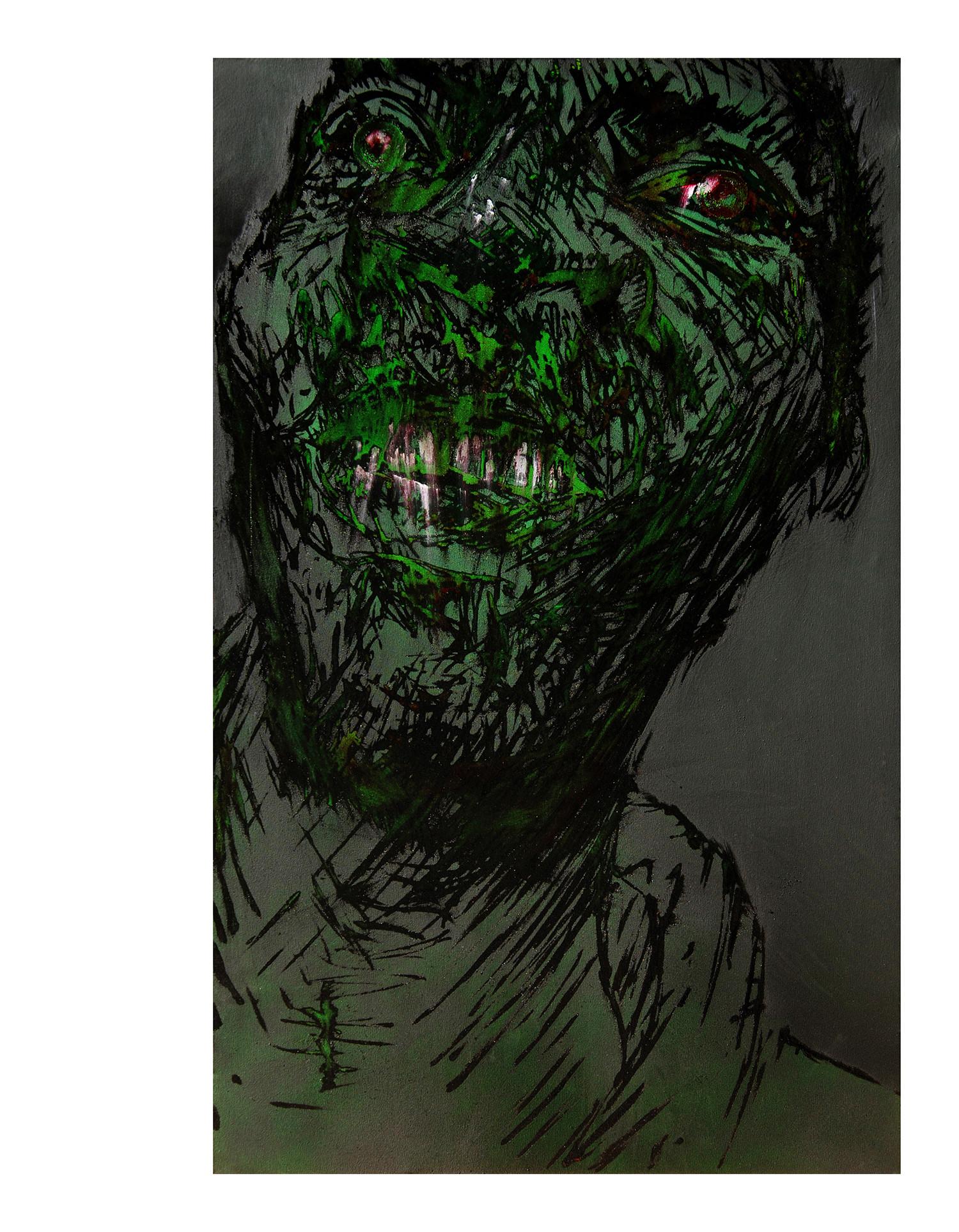 Mario Benjamin, sans titre, acrylic mix media on canvas