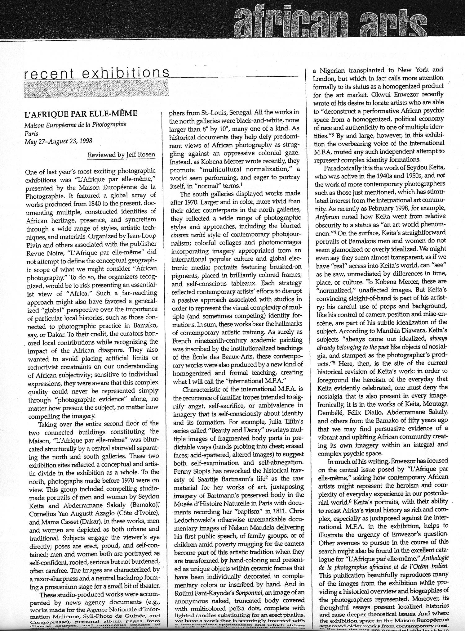 AfricanArts-Mai1998-AfriqueParElleMM