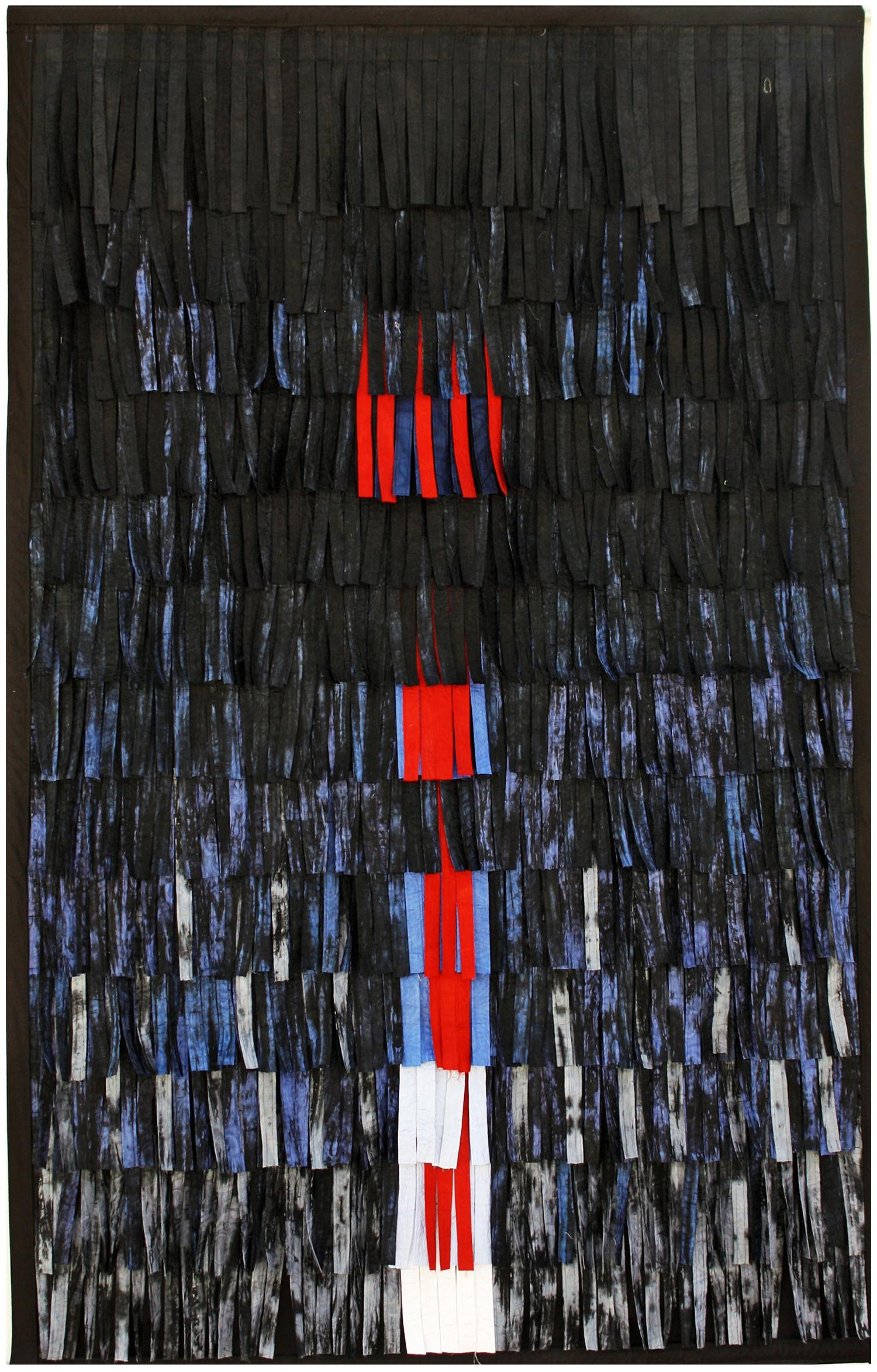 Abdoulaye Konaté, Composition 5, textile, 146x230cm, 2012