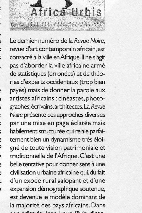 Architecture d'Aujourd'hui – 1999