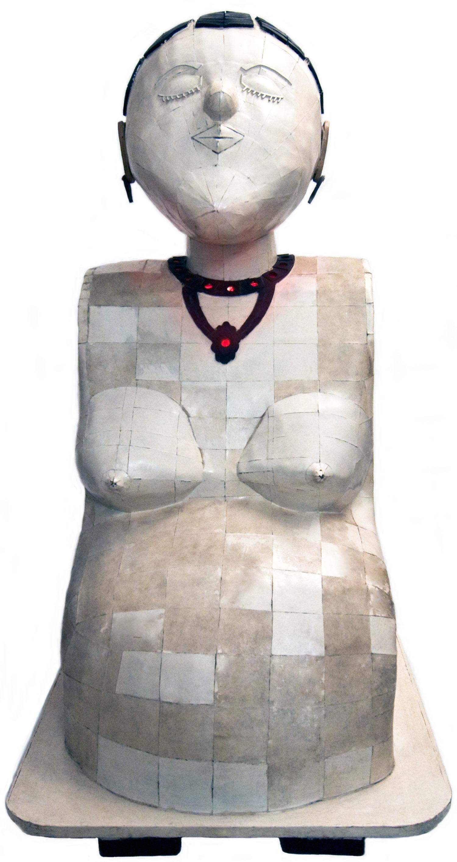 Pume Bylex, 'Maternité', sculpture mix media, 1988-1994