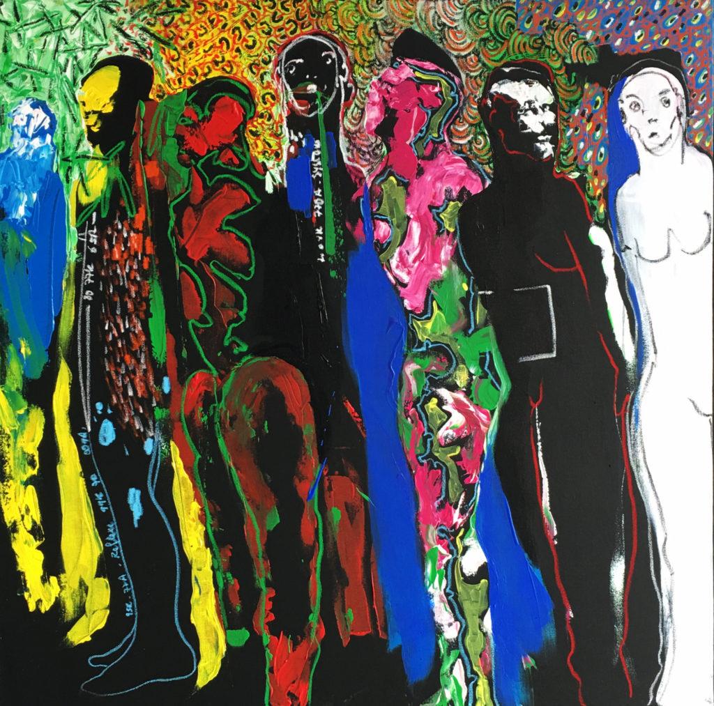 Soly Cissé, peinture, Dak'Art 2016 (espace Aïssa Dione)