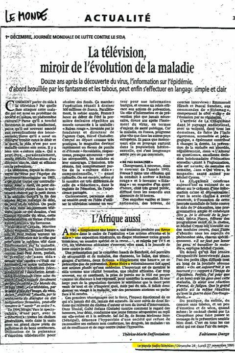 Le Monde – nov 1995