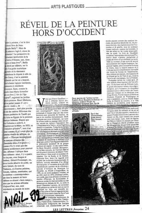 Les Lettres françaises – avr 1992