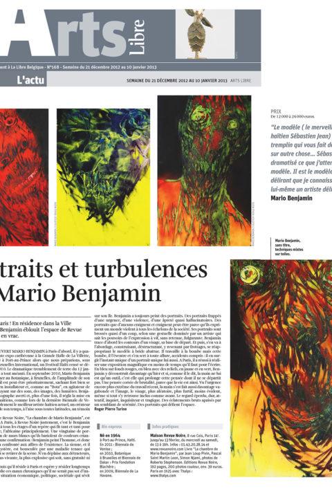 Libre Belgique – dec 2012