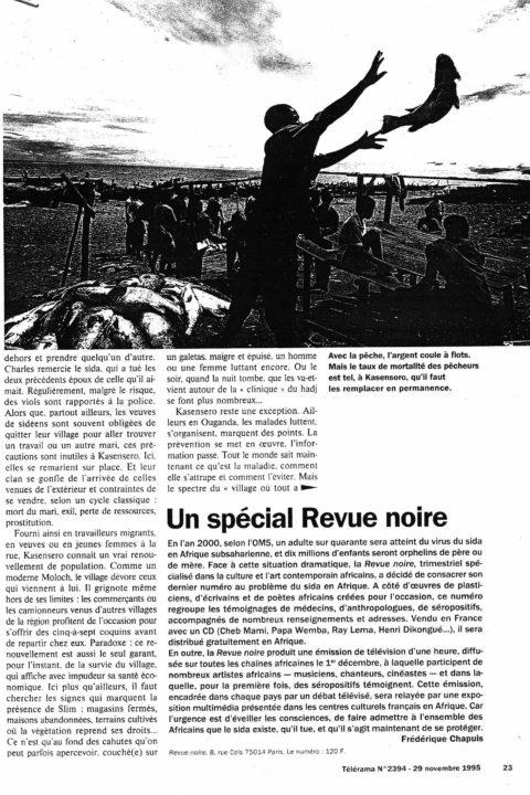 Télérama – nov 1995