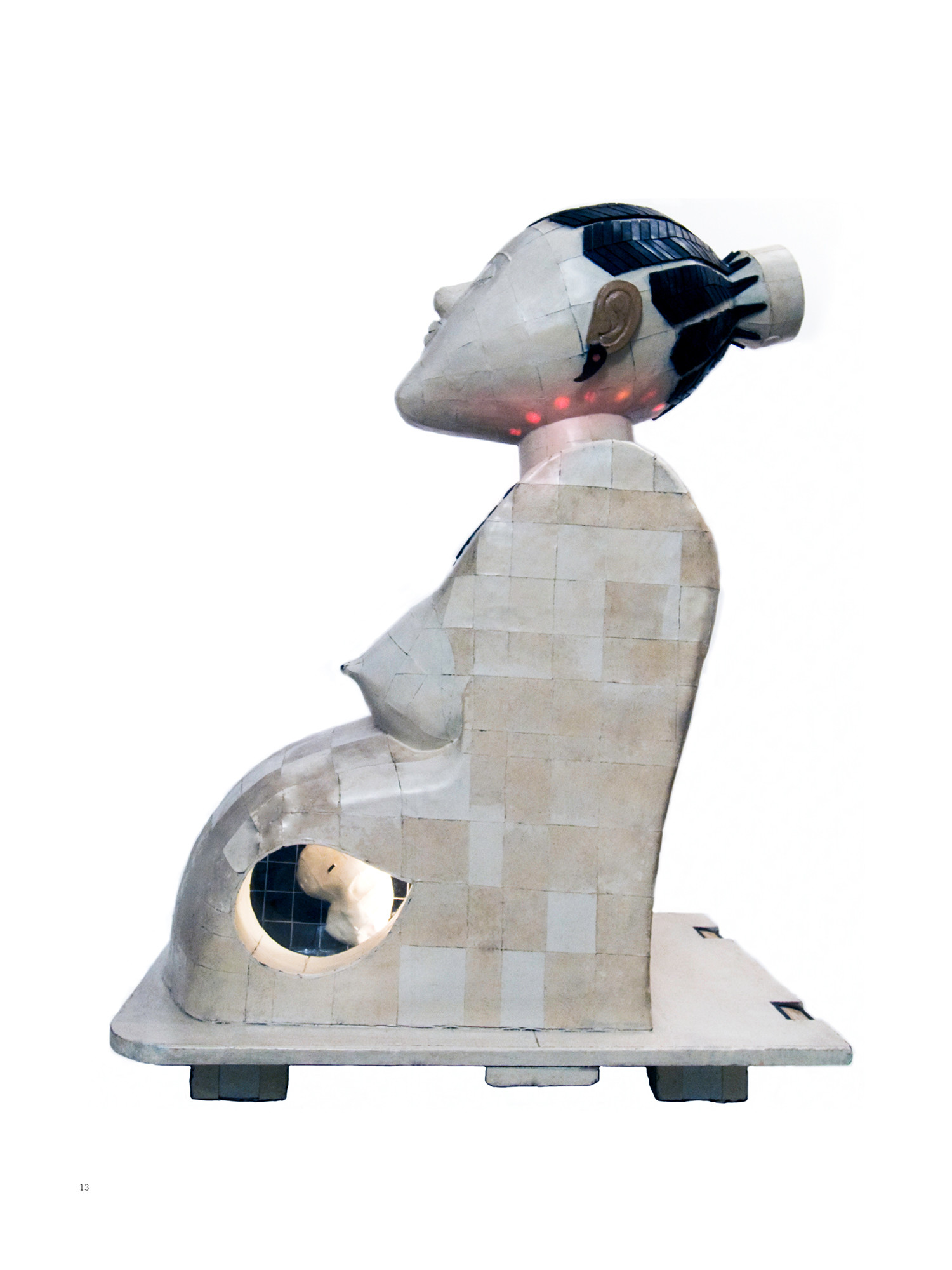 Pume Bylex, 'La Maternité', sculpture mix media, 1992