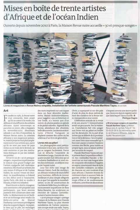 Le Monde – mai 2011