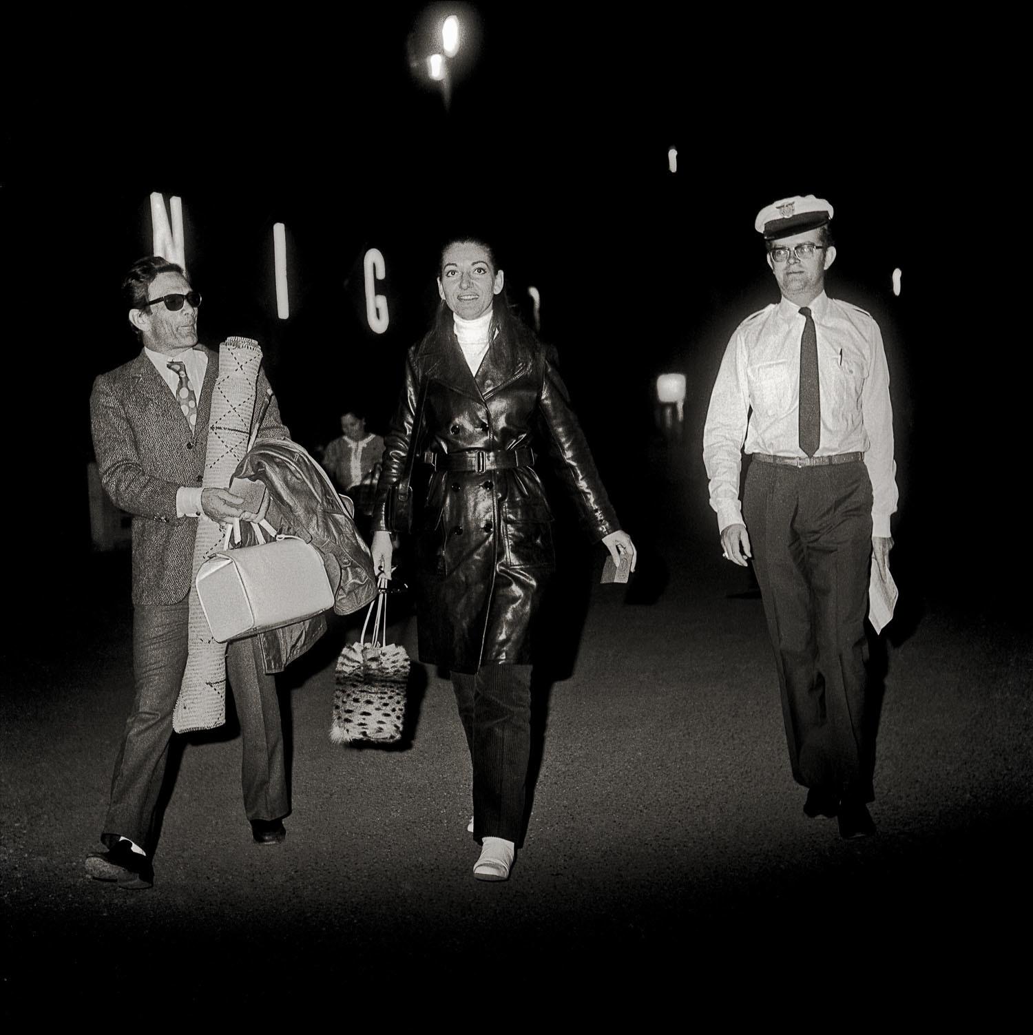 © photo Philippe Koudjina, 'Maria Callas et Pier Paolo Pasolini à l'aéroport de Niamey après un repérage pour le film Medea', Niamey, 1969