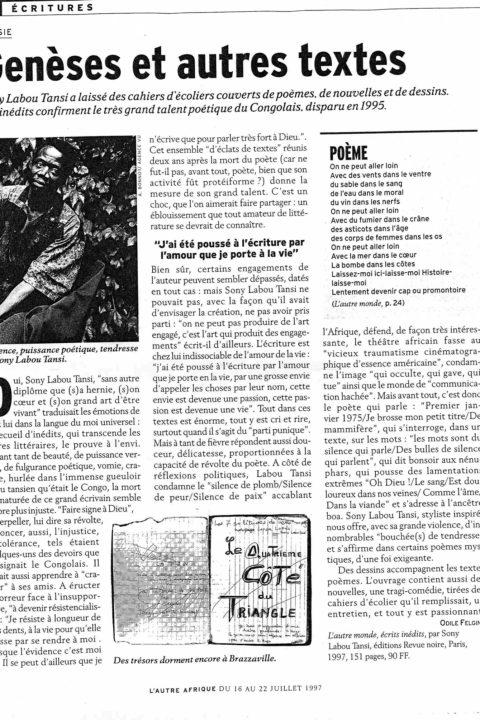L'Autre Afrique – Jul 1997