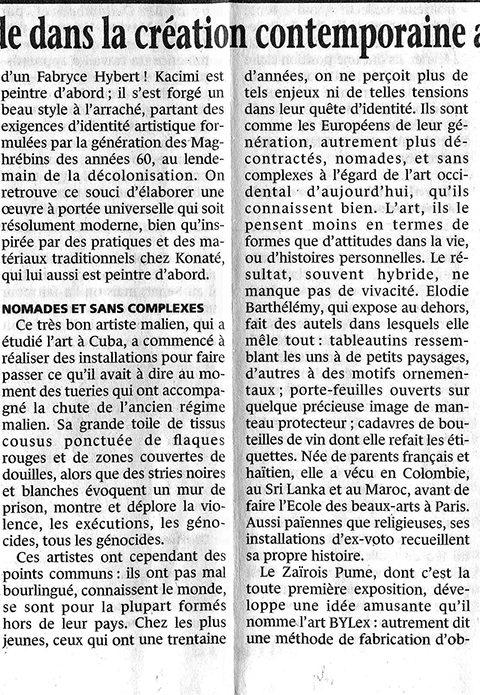 Le Monde – mars 1997