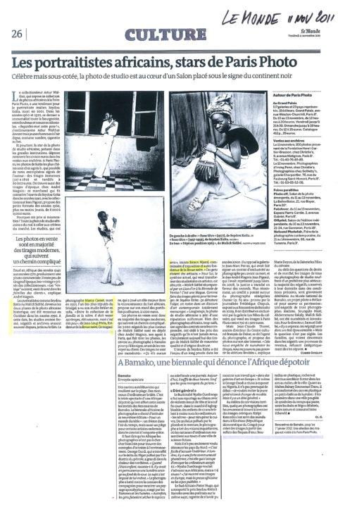 Le Monde – nov 2011