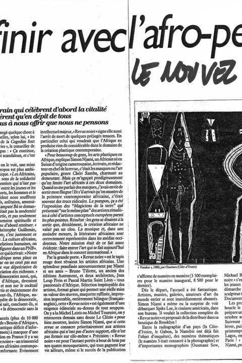 Nouvel Observateur – Aout 1992