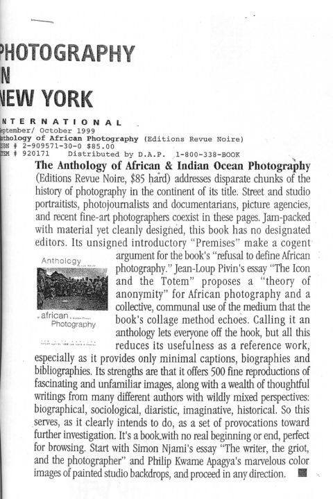Photography in New York – 1999