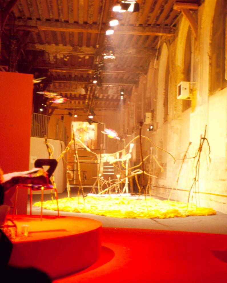 """""""Suites Africaines"""" exposition Revue Noire, Paris 1997 - """"La Grande danse"""" de Mustapha Dimé (Sénégal)"""